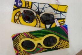 pochette de lunette tissu africain wax
