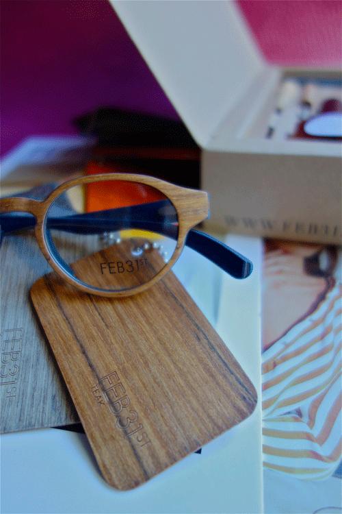 FEB31 lunettes en bois sur mesure