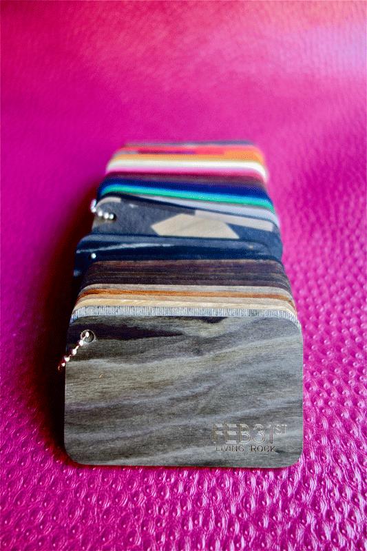 FEB31 plaques de couleur en bois